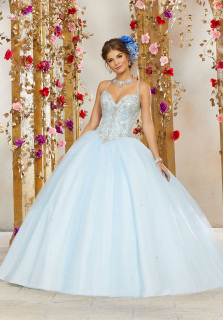 49901b496d7 BEADED SWEETHEART QUINCEANERA DRESS BY MORI LEE VALENCIA 60073
